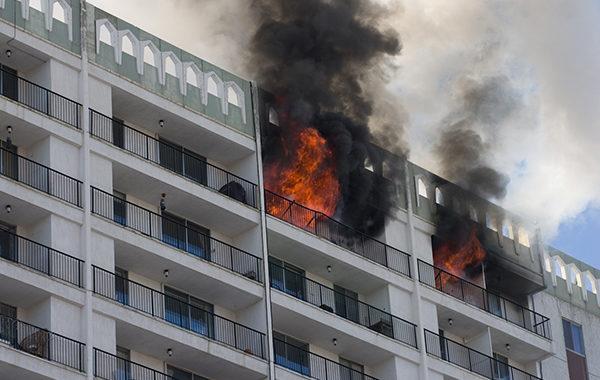 Incendio in condominio